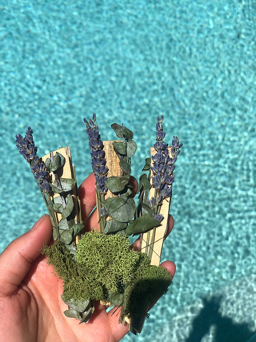 Eucalyptus + Lavender Wrapped Palo Santo: Set of 2