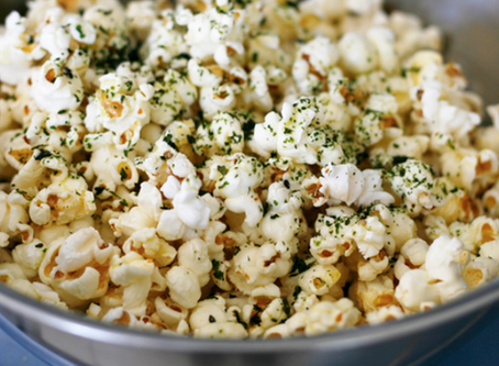 beWELL workshop update & furikake curry popcorn recipe (vegan)