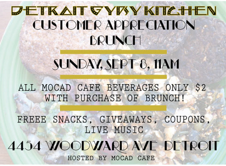 SEPT 8: CUSTOMER APPRECIATION BRUNCH @ MOCAD