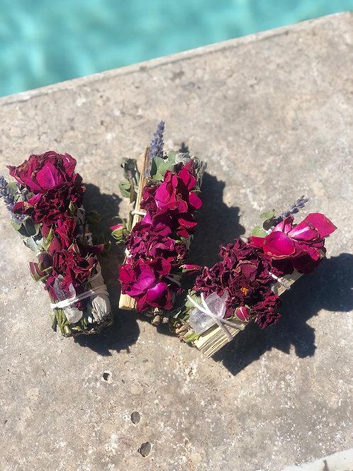 Rose 🌹+ Palo Santo + Quartz Set (3)