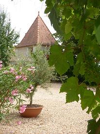vue sur bourg de Nanteuil depuis la maison