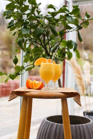 Citrussmoothie med böngroddar