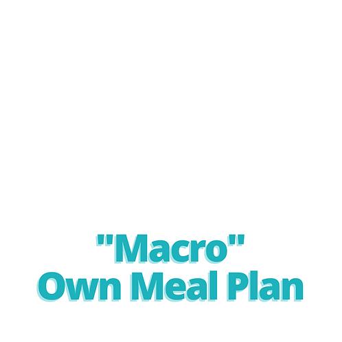 Macro Own Meal Plan