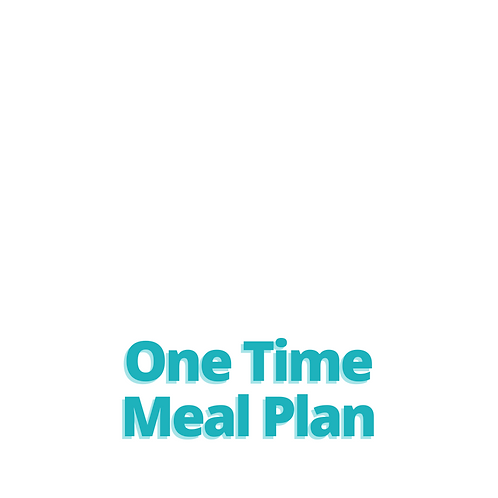 One Time Meal Plan