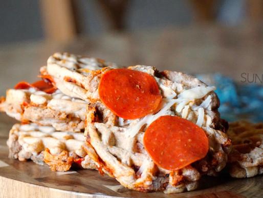 Mini Stuffed Pizza Waffles