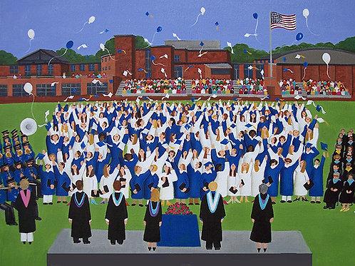Framed DHS Graduation print