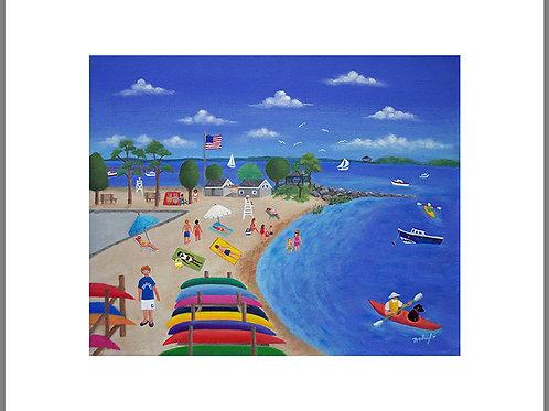 Pear Tree Point beach print