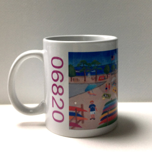 Pear Tree Point beach mug