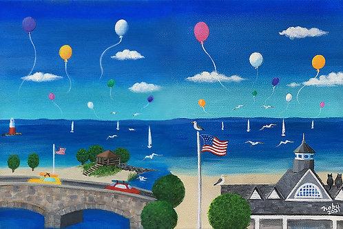 Framed Darien Beaches 2021 print