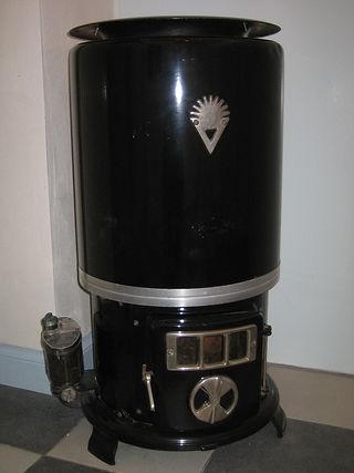 Een originele vroling gaskachel