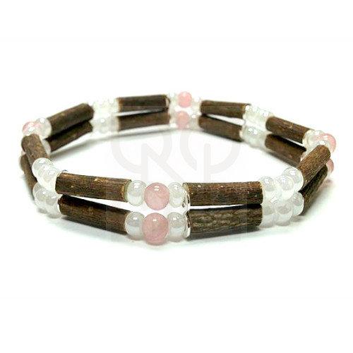 Bracelet pur noisetier quartz rose de PUR NOISETIER