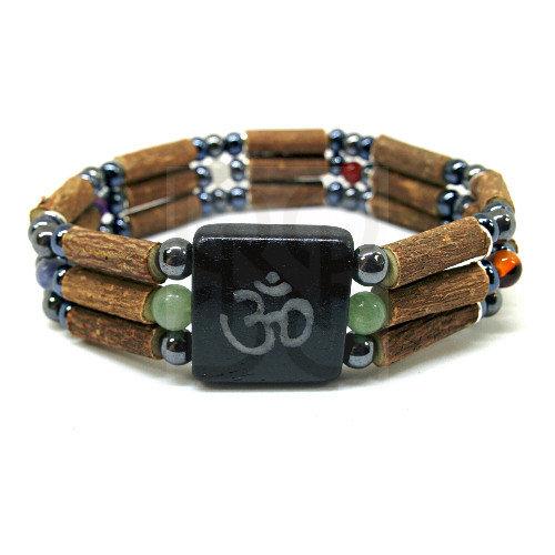 Bracelet Triple en noisetier chakras de PUR NOISETIER
