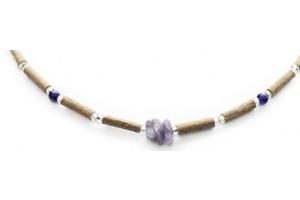 Collier ou Bracelet en Noisetier à long Bec ou Corylus cornuta Marshall, Betulacea