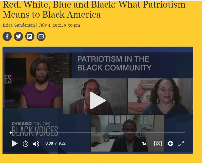Tillman discuss Black Patriotism on PBS-WTTW Black Voice