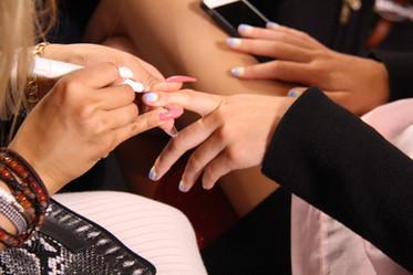 Ombre-nails i pasteller för By Malina under Fashion Week.