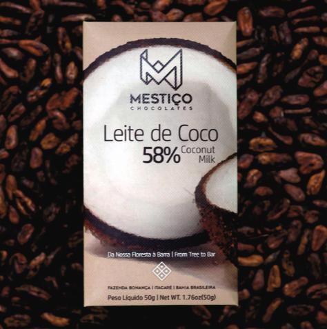Chocolate ao Leite de Coco 58% Mestiço