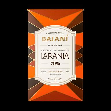 Chocolate 70% com Laranja - Baianí - 58g