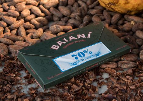 Chocolate 70% Trinitários Raspas de Laranja 0,5% Baianí