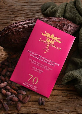 Chocolate Amargo 70% Rio Tocantins Luisa Abram 80g