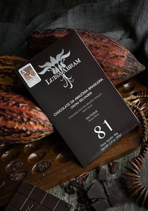 Chocolate Amargo 81% Rio Purus Luisa Abram 80g