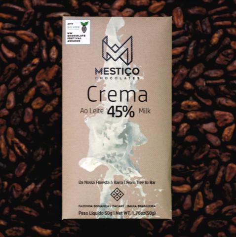 Chocolate Leite Crema 45% Mestiço