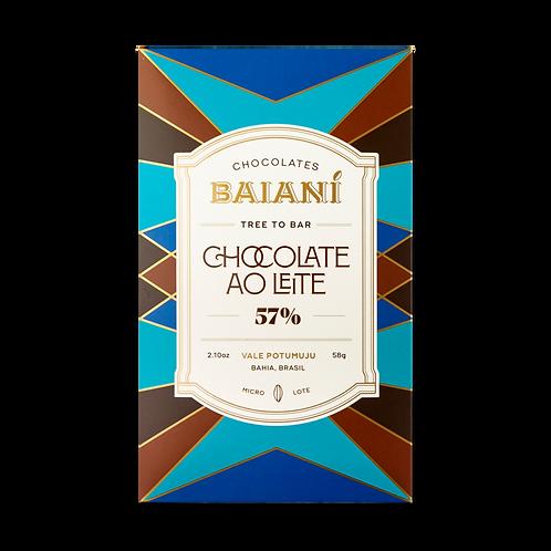 Chocolate ao leite 57% - Baianí - 58g