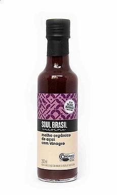 Molho Orgânico de Açaí com Vinagre Soul Brasil 250ml