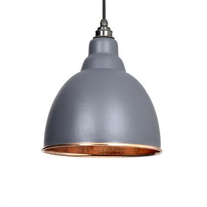 From The Anvil Brindley Pendant Dark Grey & Hammered Copper 49500dg