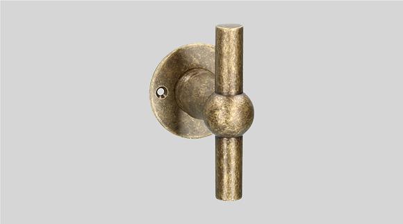 Orno Art. 124 R0-T Antique Brass Lever Door Handles