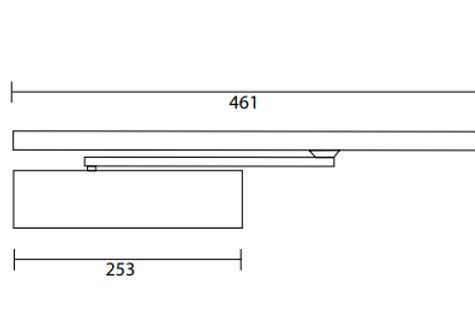 Rutland TS.11204 Overhead Door Closer Mechanism Only | Halesowen, West Midlands