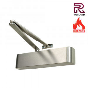 TS.9206DABC Satin Stainless Steel Overhead Door Closer Size 2 - 6