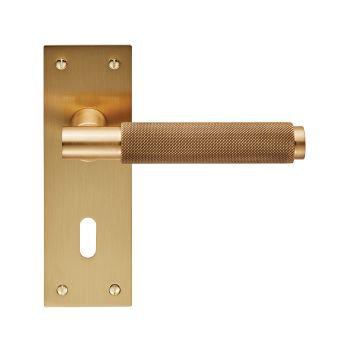 Varese EUL051 Satin Brass Lever Lock Door Handles