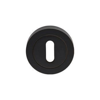 EUL002 Standard Key Matt Black Key Hole Escutcheon
