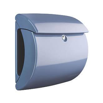BURG WACHTER Piano Plastic Post Box - Light Blue Gloss