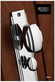 Carlisle Brass Art Deco Knob On Backplate (Unsprung) Polished Chrome