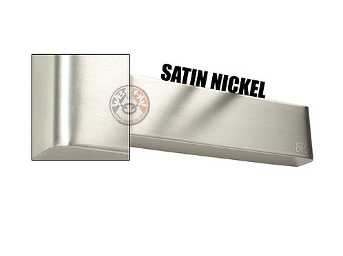 Rutland TS.9205 Satin Nickel Radius Cover For Overhead Door Closer | Halesowen