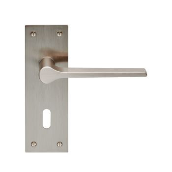 Velino EUL021 Satin Nickel Lever Lock Door Handles