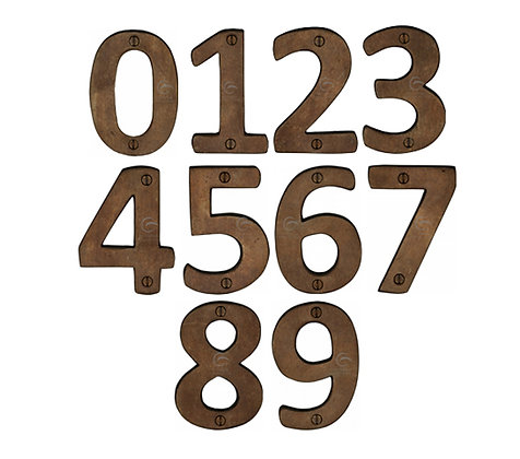 Heritage Brass RBL351 76mm Solid Bronze Rustic Numerals