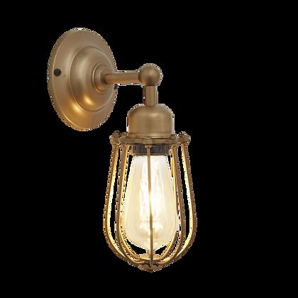 Orlando Wire Cage - 4 Inch Brass Wall Light