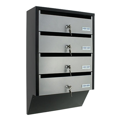 Rottner mailbox with 4 separate compartments.