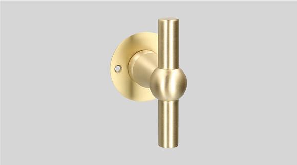 Orno Art. 124 R0-T Satin Brass Lever Door Handles