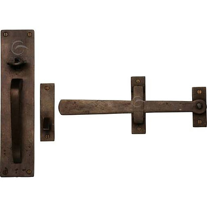 Heritage Brass Gate Handle & Latch RBL571 Solid Bronze Rustic