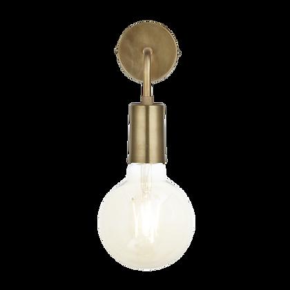 Sleek Edison Wall Light Brass