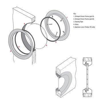 SS Slimport Circular Vision Porthole SP550-44-SS