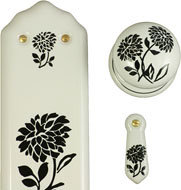 BLACK DAHLIA DESIGN PORCELAIN FURNITURE AND ACCESSORIES BY CHATSWORTH