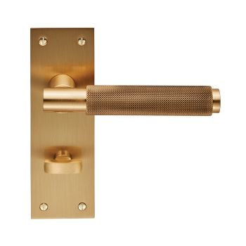 Varese EUL053 Satin Brass Bathroom Door Handles