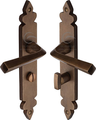 Heritage Brass RBL3630 Solid Rustic Bronze Bathroom Door Handles