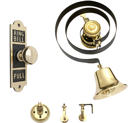 Prima Butlers Bell With Shaped Oblong Embossed Pull