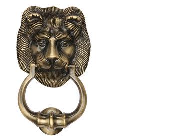 K1210 LIONS HEAD DOOR KNOCKER