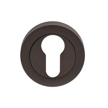 EUL001 Euro Profile Matt Bronze Keyhole Escutcheon